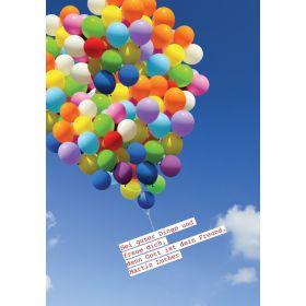 "Faltkarte ""Sei guter Dinge und freue dich"" - 5er-Pack"