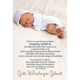 Faltkarte: Gute Wünsche zur Geburt