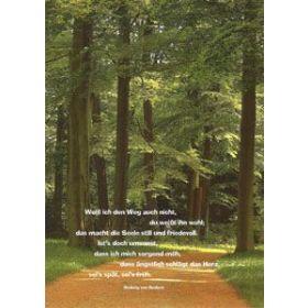 Poster: Weiß ich den Weg auch nicht